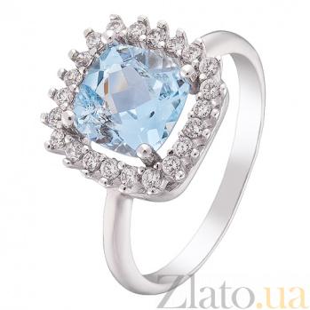 Серебряное кольцо Кассия с топазом и фианитами 000045527
