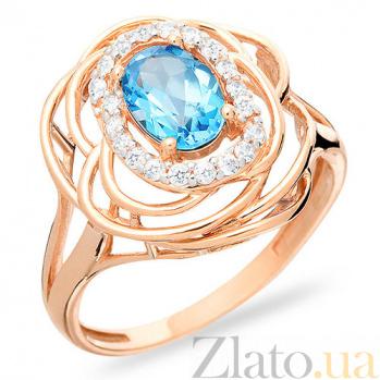 Кольцо из золота с голубым топазом Облака SUF--140670Птг