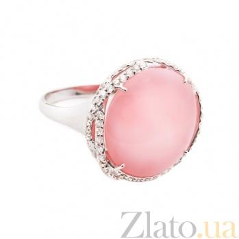 Золотое кольцо с лунным камнем и бриллиантами Шарлотта 1К113-0107