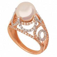 Кольцо из красного золота с жемчугом Фериде