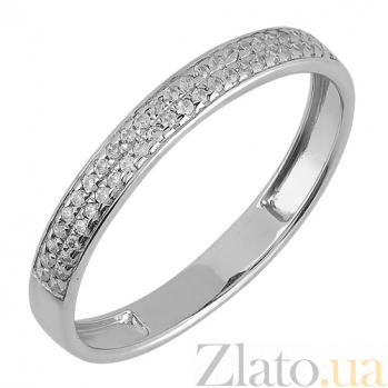 Обручальное золотое кольцо Beauty с фианитами в белом цвете 000008392