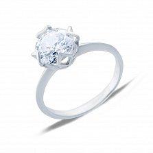 Серебряное кольцо с фианитом Новое чувство