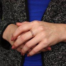 Золотое кольцо Мелинда в комбинированном цвете с бриллиантами