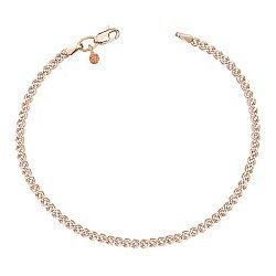Золотой браслет Нонна с алмазной гранью и родием