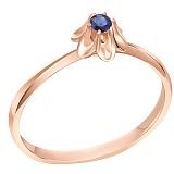 Кольцо в красном золоте Гвинет с сапфиром