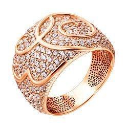 Кольцо из красного золота с фианитами 000135836