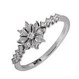 Золотое кольцо с бриллиантами Снежинка