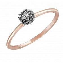 Кольцо Амели из комбинированного золота с бриллиантами