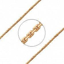 Золотая цепь Куб плотного якорного плетения в красном цвете