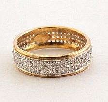 Обручальное кольцо из красного золота Дидилия с фианитами