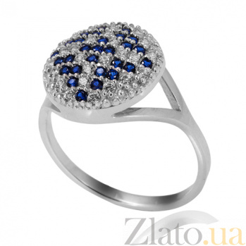 Серебряное кольцо с синими кристаллами Оберег Оберег/к
