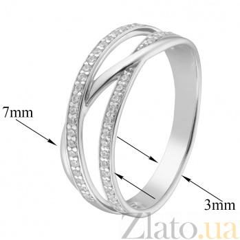 Золотое кольцо с фианитами Натаниэль 000023212