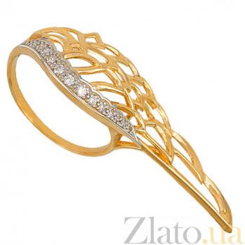 Кольцо из желтого золота с фианитами Крыло VLT--ТТ1298