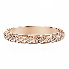 Обручальное кольцо из розового золота Небесная река
