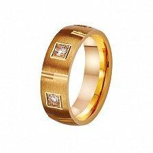 Золотое обручальное кольцо Мистика любви с фианитами