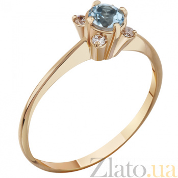 Кольцо из красного золота с топазом swiss Алекса AUR--31733 02