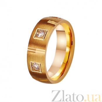 Золотое обручальное кольцо Мистика любви с фианитами TRF--4121094