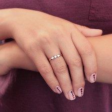 Помолвочное кольцо Ирий в комбинированном цвете золота с фианитом