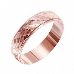Позолоченное серебряное кольцо Гарселла с перекрестной насечкой 000039578