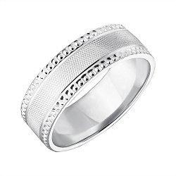Серебряное обручальное кольцо 000043141