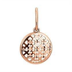 Кулон из красного золота с алмазной гранью 000119103