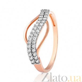 Золотое кольцо Касильда с белыми фианитами EDM--КД2023