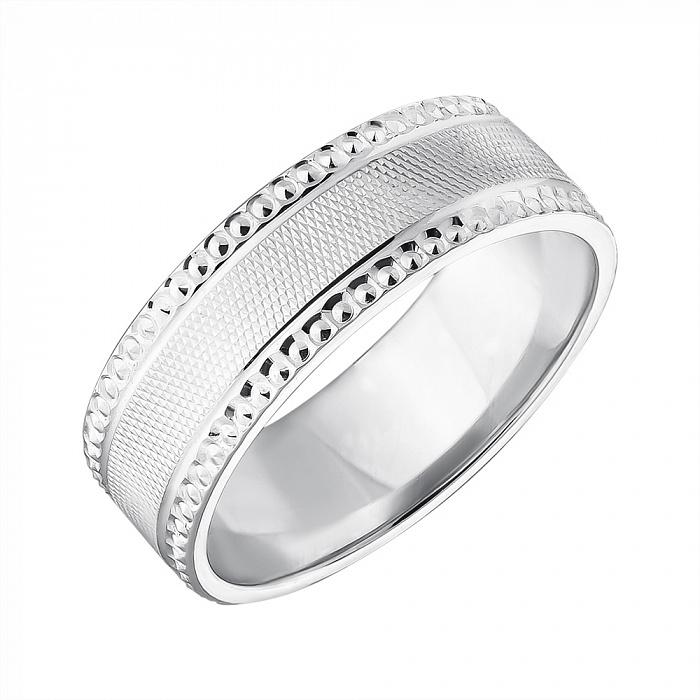 Серебряное обручальное кольцо 000043141 000043141