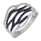 Золотое кольцо Реджина с сапфирами