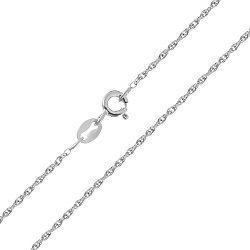 Серебряная цепь Бароло с родированием 000030847