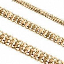 Золотая цепь Питта в плетении королевский бисмарк, 4мм
