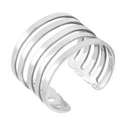 Фаланговое разомкнутое кольцо из белого золота 000135359