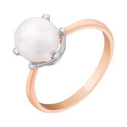 Золотое кольцо с жемчугом 000011289