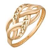 Золотое кольцо Изгибы судьбы с насечкой