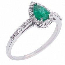 Золотое кольцо Эалин с изумрудом и бриллиантами