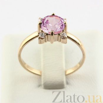 Золотое кольцо с аметистом и фианитами Ванда VLN--112-1338-4