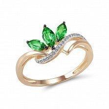 Кольцо из золота с гранатами и бриллиантами Миранда