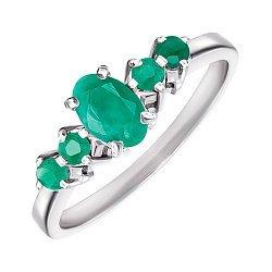 Серебряное кольцо с изумрудами 000145317