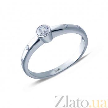 Помолвочное кольцо с цирконами Избранная AQA--К-10148
