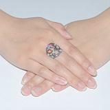Серебряное кольцо с топазом SKY Премьера