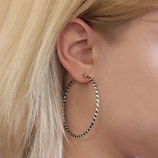 Серебряные серьги Алисия
