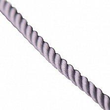 Шелковый шнурок Мато с серебряной застежкой-карабином