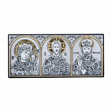 Триптих иконы в автомобиль Святые лики