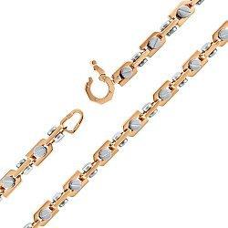 Золотая цепь в комбинированном цвете 000053442