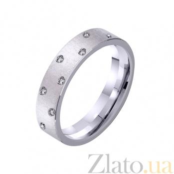Обручальное кольцо из белого золота Идеальный брак с фианитами TRF--4221302