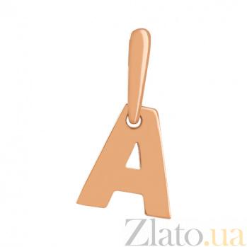 Золотая подвеска Буква А VLN--314-1728