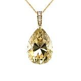 Золотое колье с цитрином и бриллиантами Пламя страсти