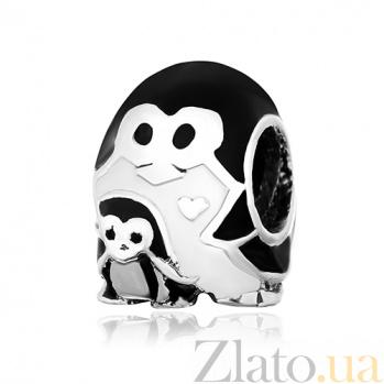 Серебряный шарм Пингвины 000028744