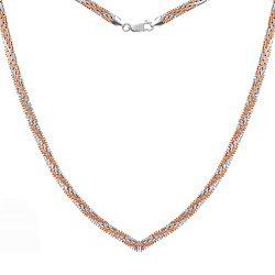 Серебряная цепь Джоконда с позолотой, 5 мм 000039478