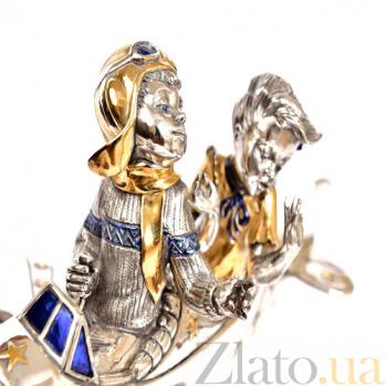 Серебряная статуэтка с позолотой Планер 1-1531