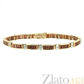 Золотой браслет с бриллиантами и гранатами Стронг ZMX--BCGn-6104_K